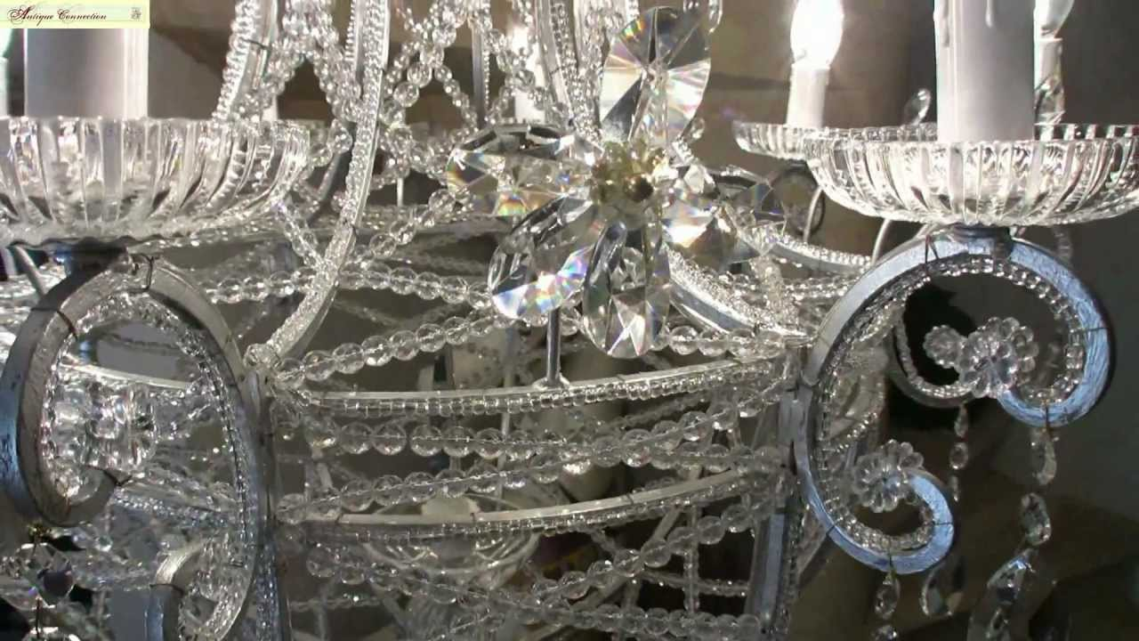 lustre montgolfi re argent en cristal de boh me youtube. Black Bedroom Furniture Sets. Home Design Ideas
