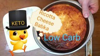 Low Carb Keto Friendly  Ricotta Babka. Ketogenic Dessert Recipe