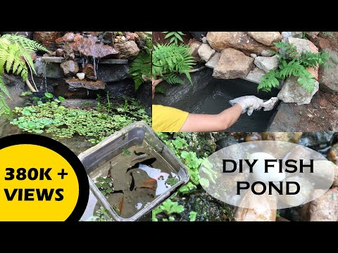 Lockdown DIY Fish Pond With Waterfall | Fish Pond In House Made During Lockdown From Stuff Available