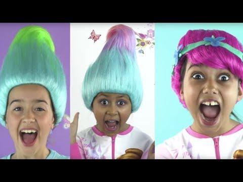 PRINCESSES IN REAL LIFE TURN INTO TROLLS | Elsa Vs Maleficent Vs Rapunzel Hair Disaster | Kiddyzuzaa
