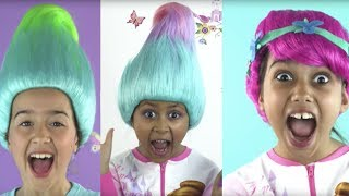 PRINCESSES IN REAL LIFE TURN INTO TROLLS | Elsa Vs Maleficent Vs Rapunzel Hair Disaster | Kiddyzuzaa