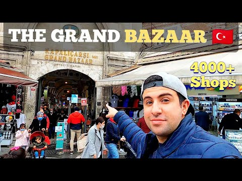 Exploring The Grand Bazaar The LARGEST Market In Istanbul, Turkey 2021