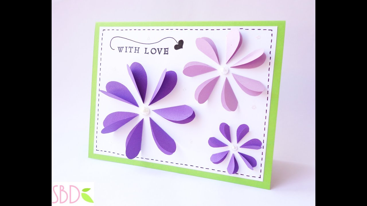 Fabuleux Biglietto Pop Flowers - Pop Flowers Card - YouTube PH99