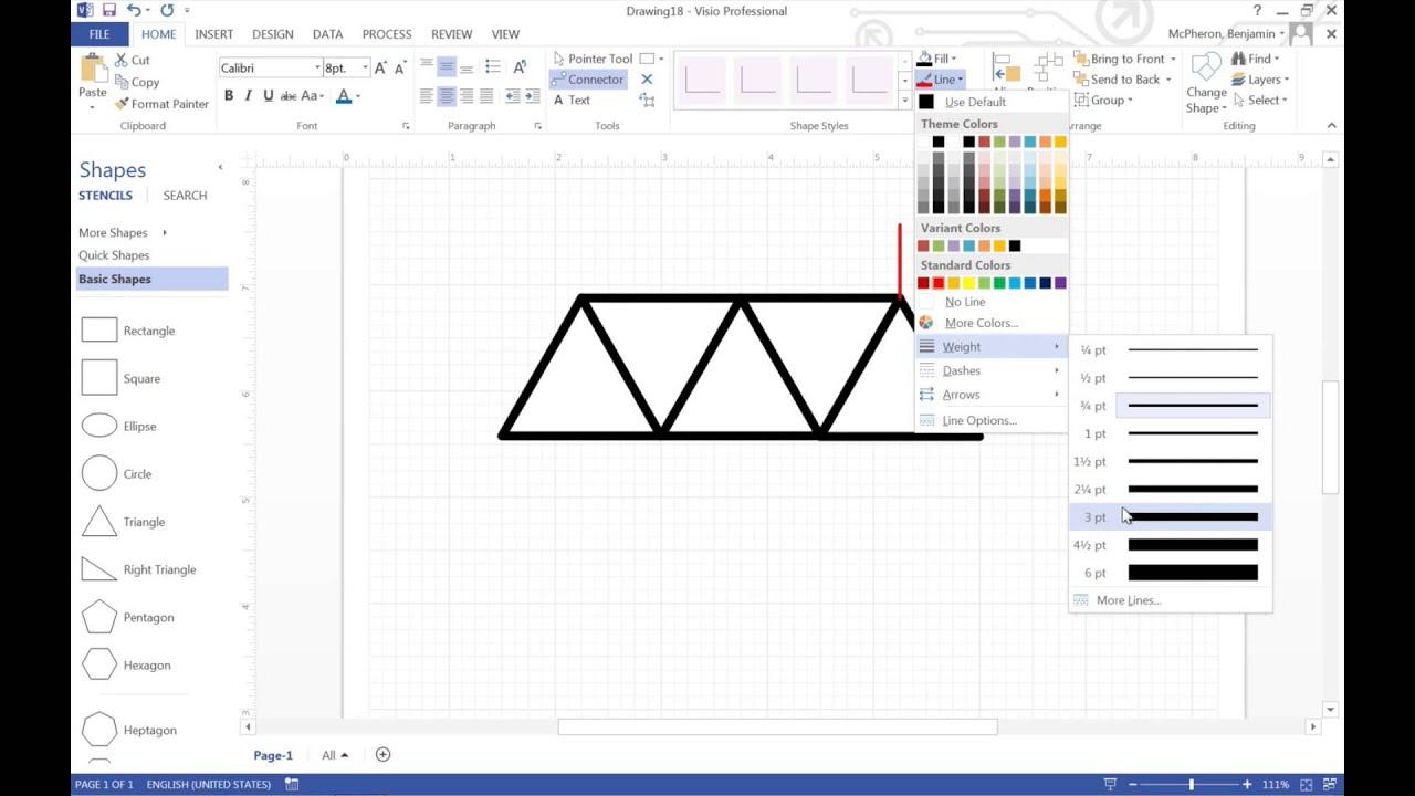 making simple engineering drawings in visio how to ep