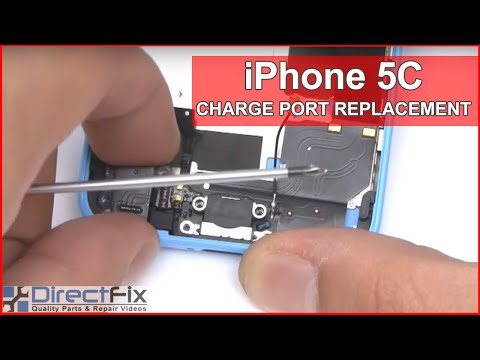 replace iphone charging port how to fix the iphone 5c charging port in 5 minutes 3039