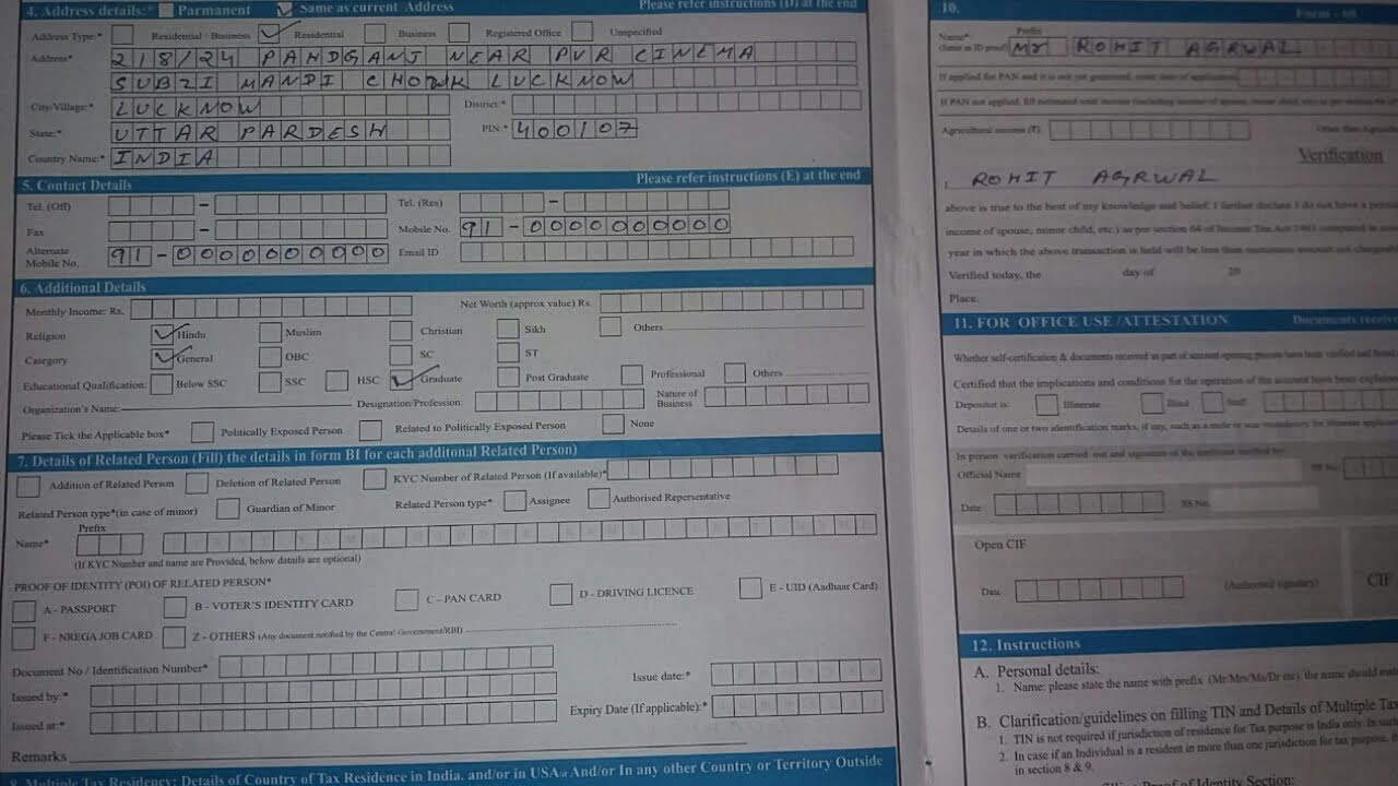 Sbi Application Form Pdf