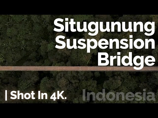 Situ Gunung Suspension Bridge / Sukabumi, Indonesia, by Drone | Shot In 4K. 🇮🇩