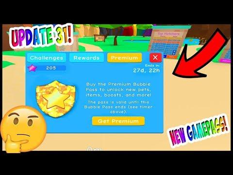 UPDATE 31 BUBBLE GUM SIMULATOR! NEW BUBBLE PASS! - ROBLOX