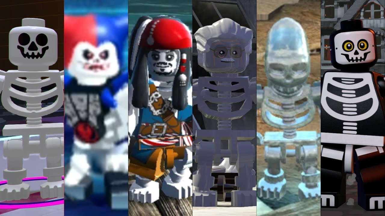 All Skeletons in Lego Videogames! (Halloween Special)