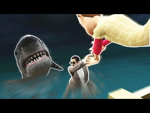 TSUNAMI STRIKES BOAT IN SHARK INFESTED WATERS! - Garry's Mod Gameplay (Gmod Roleplay)