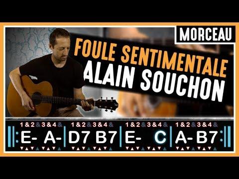 Tuto guitare : Foule Sentimentale - Alain Souchon