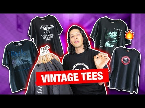VINTAGE TEES. (Where to buy + tips)