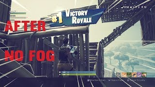CÓMO DESHACERSE DE LA NIEBLA EN FORTNITE BATTLE ROYALE!