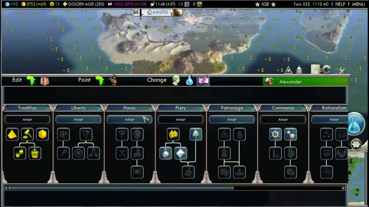 Watch the civilization 5 ingame editor in action demo youtube gumiabroncs Images