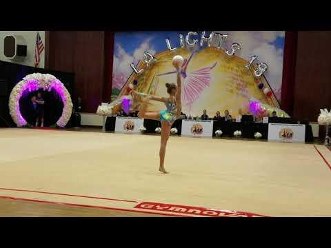 Isachenko Julia (Belarus) - 12.6 - Ball - Level 10 Senior - LA Lights 2018