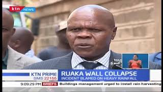 Ruaka wall collapse: Residents ordered to vacate after section of parking lot collapsed