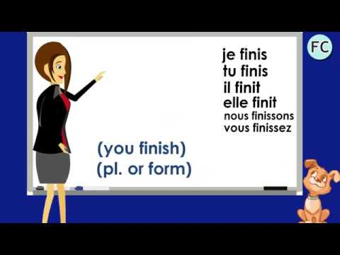 Le Verbe Finir Au Present To Finish Present Tense French Conjugation Youtube