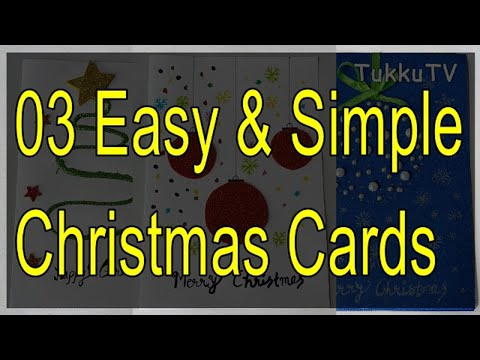 Christmas Greeting Cards: 03 Different Ideas   Handmade Cards For Christmas