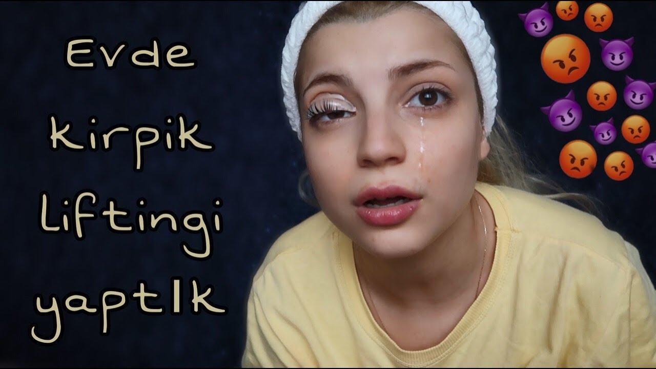 AĞLADIM! EVDE KİRPİK LİFTİNGİ YAPTIK Büşra Pektaş