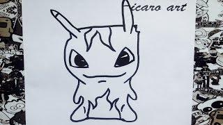 Como dibujar a infierno burpy | how to draw hell burpy | bajoterra