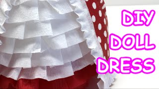 DIY Doll Dress: Tissue/Crepe Paper and Water Bottle Dolls - Recycled Bottles Crafts