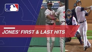 A look at Andruw Jones' first and last hits