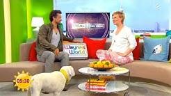 Jan Sosniok überrascht Wayne Carpendale beim Sat.1 Frühstücks Fernsehen (2014)