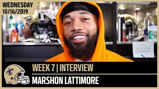 Marshon Lattimore Looks to Get Better Each Week | New Orleans Saints Football