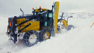 Video still for Snow Plowing with John Deere Motor Graders