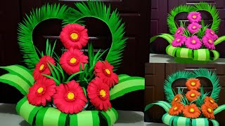 How To Make  Flower Bouquet  With Paper // Floral Decoration//DIY Paper Flower Bouquet