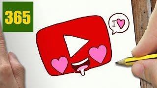 Come Disegnare Youtube Innamorato Kawaii Passo Dopo Passo