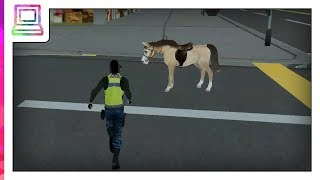 Rodeo Police Horse Simulator Horse Game