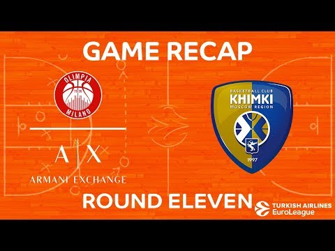 Highlights: AX Armani Exchange Olimpia Milan - Khimki Moscow region