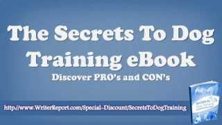 The Secrets To Dog Training Ebook - The Secrets To Dog Training