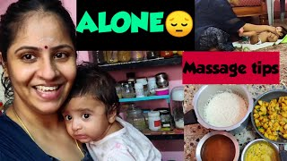Alone😔at home🏡| How to massage new born & Tips | Full day vlog | Twins vegkitchen vlogs