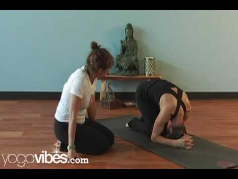 yoga tutorial rabbit pose to full supported headstand