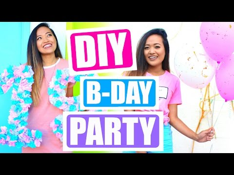 DIY Tumblr Birthday Party for Teen Girls!!!