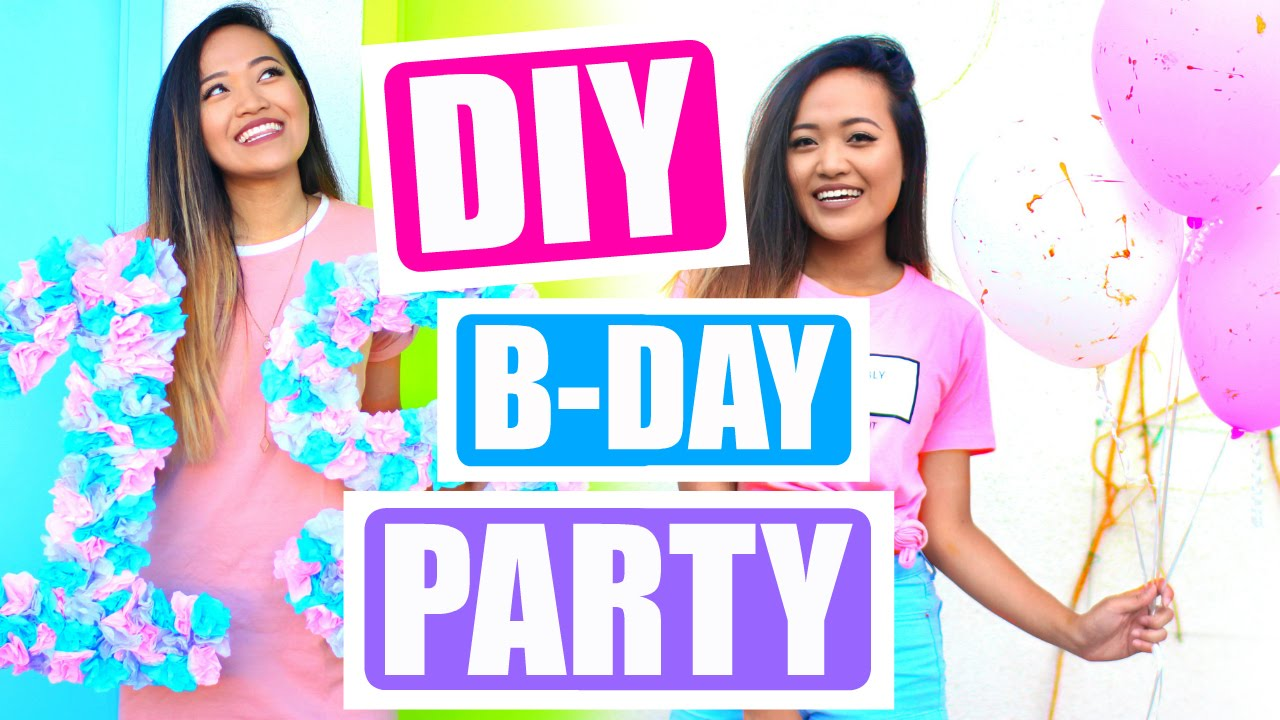 DIY Tumblr Birthday Party for Teen Girls YouTube