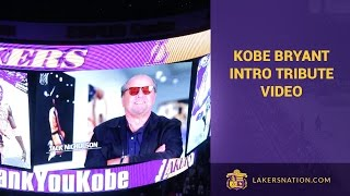 Kobe Bryant Pre-Game Ceremony u0026 Video Tribute