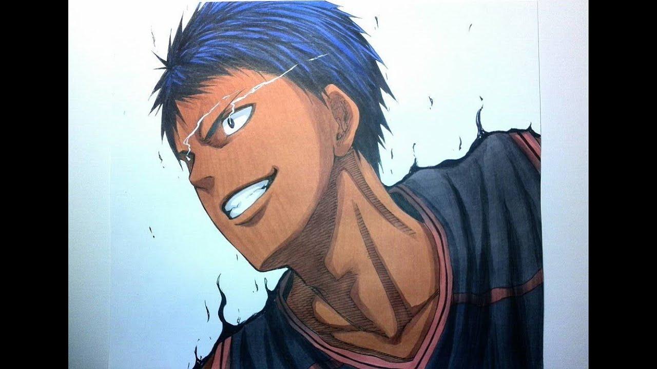黒子のバスケ青峰大輝を手書きで描いてみた Daiki Aomine Of