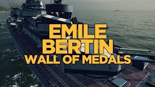 World of Warships - Emile Bertin Wall of Medals