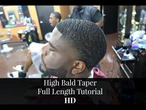 barber tutorial high bald taper full tutorial youtube