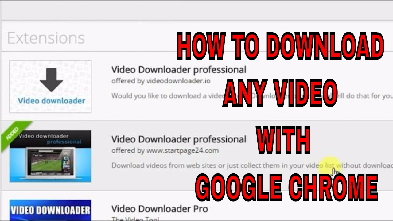 video downloader pro extension