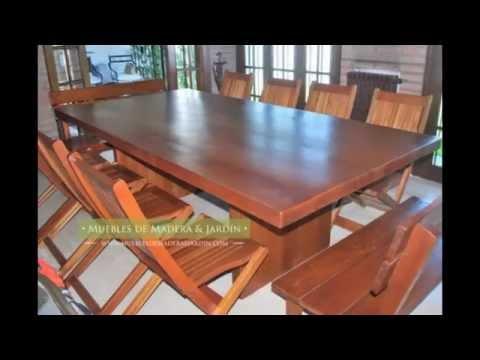 Mesas de lapacho muebles de madera y jard n com youtube for Muebles de madera para jardin