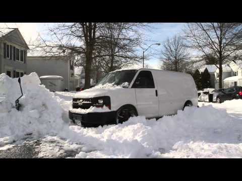 Snowstorm Clean Up Chevy Express 1500 AWD
