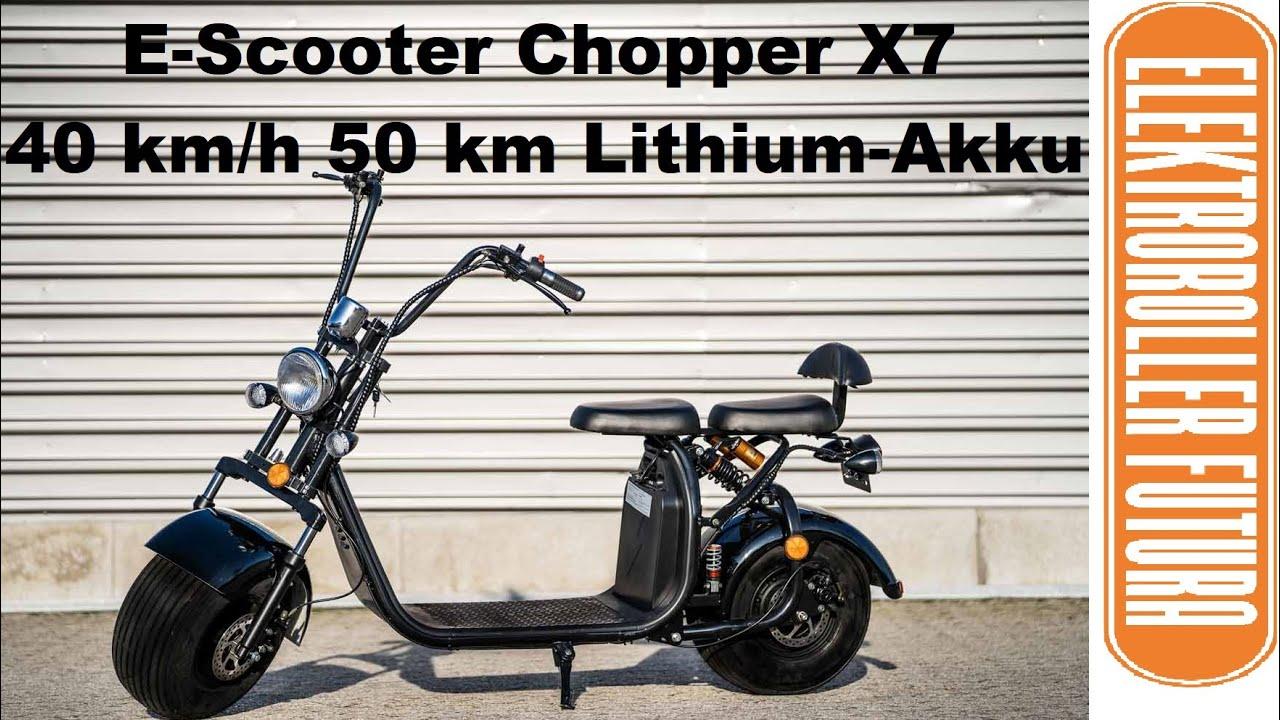 Elektroroller mit Stra/ßenzulassung Chopper X7 E-Scooter E-Roller 45 km//h Stra/ßenzulassung