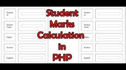 How to make a student marks calculation project in php