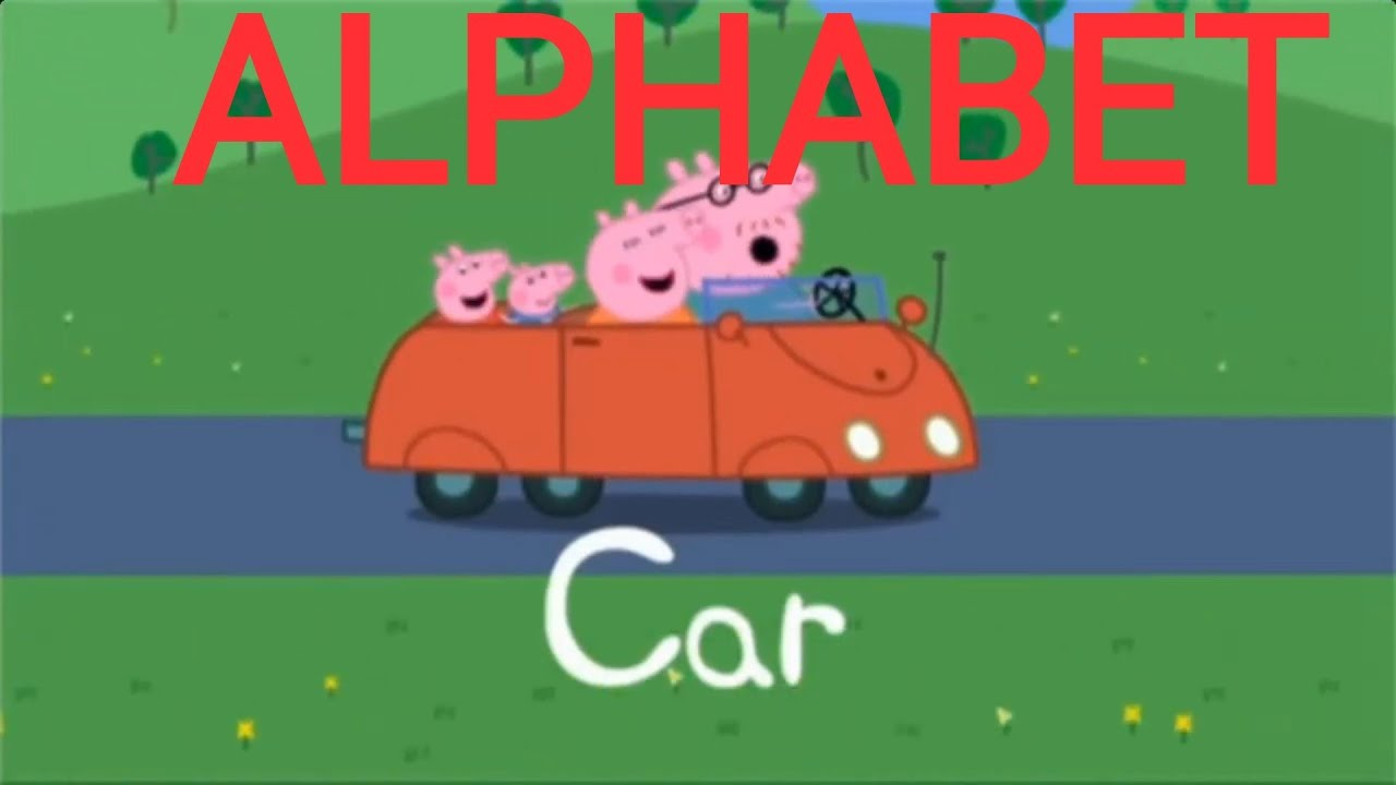 Learn English Alphabet With Peppa Pig Abc Book Youtube