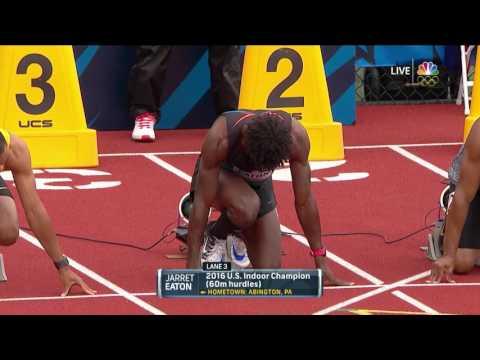 Olympic Track And Field Trials | College Football Player Devon Allen Wins 110-Meter Hurdles Heat