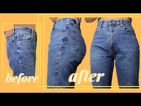 How to Take in Jeans at the Waist - No Darts | LYDIA NAOMI